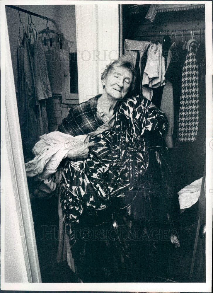 1973 Vaudeville Actress Lillian Ashton Press Photo - Historic Images