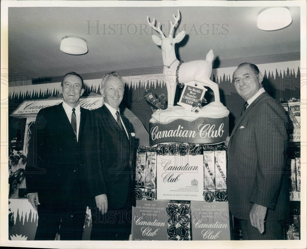 1969 Walkerville, Canada Hiram Walker & Sons President Jack Musick Press Photo - Historic Images