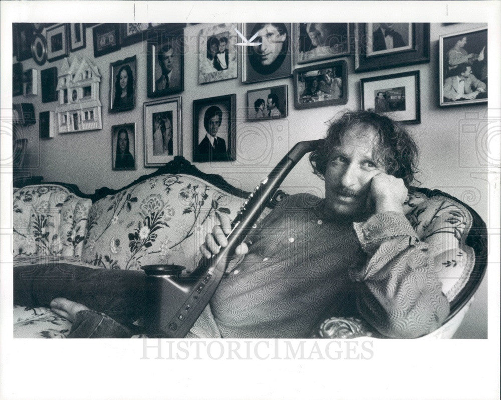 1990 Huntington Woods, MI Electronic Saxophone Musician David Was Press Photo - Historic Images