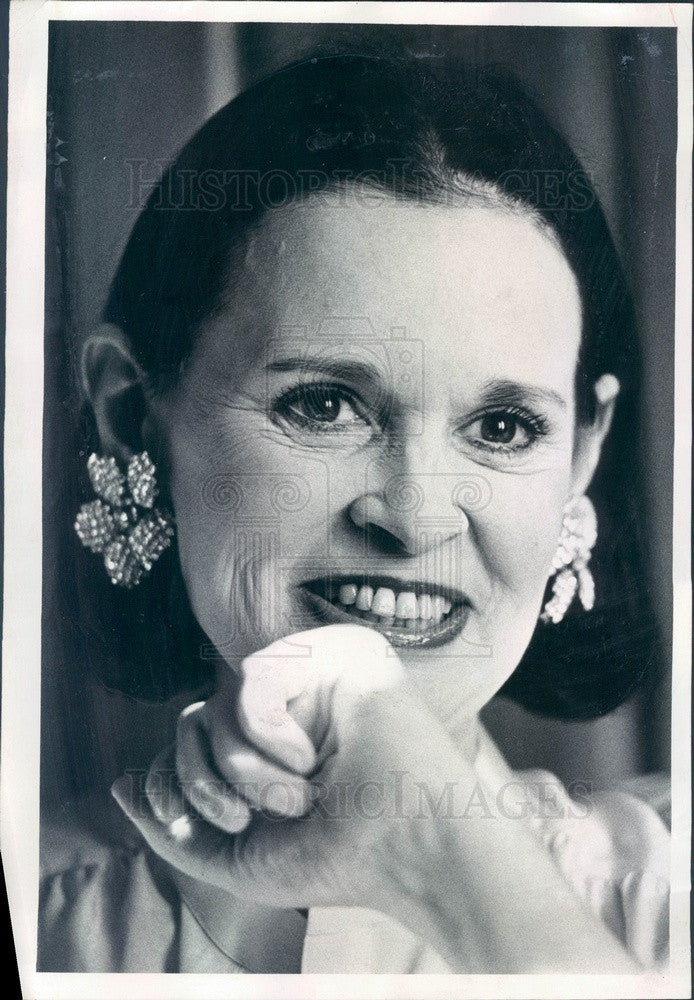 1978 Fashion Designer Gloria Vanderbilt Press Photo - Historic Images