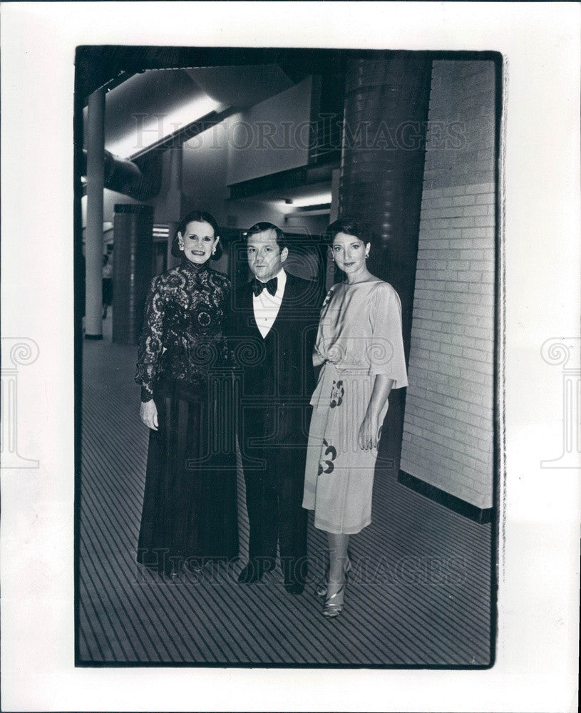 1978 Fashion Designer Gloria Vanderbilt & Mr/Mrs Samuel Gerson Press Photo - Historic Images