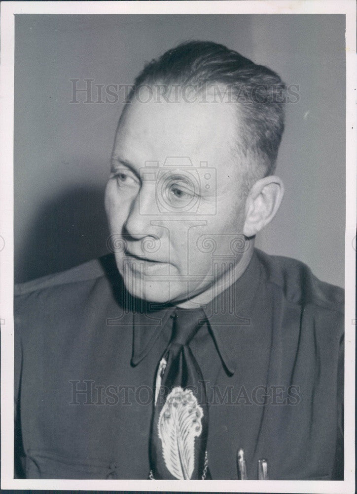 1953 Chauncey, Colorado Sheriff Van Pelt Press Photo - Historic Images