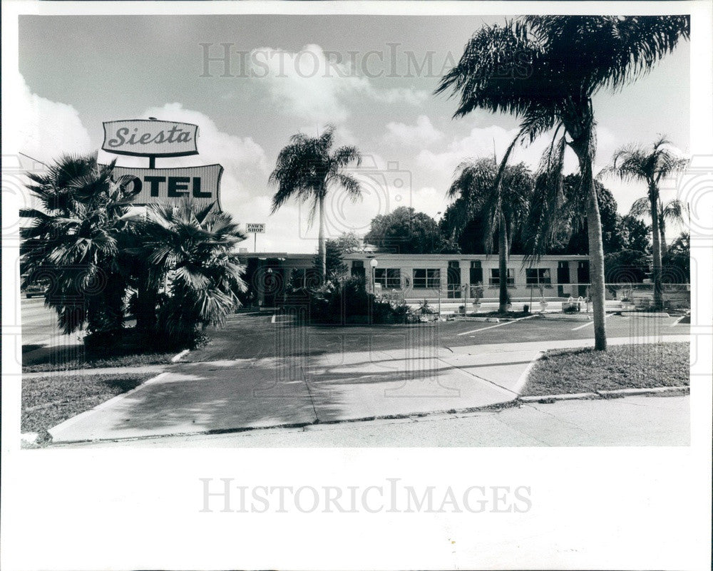 1989 St. Petersburg Florida Siesta Motel Press Photo - Historic Images
