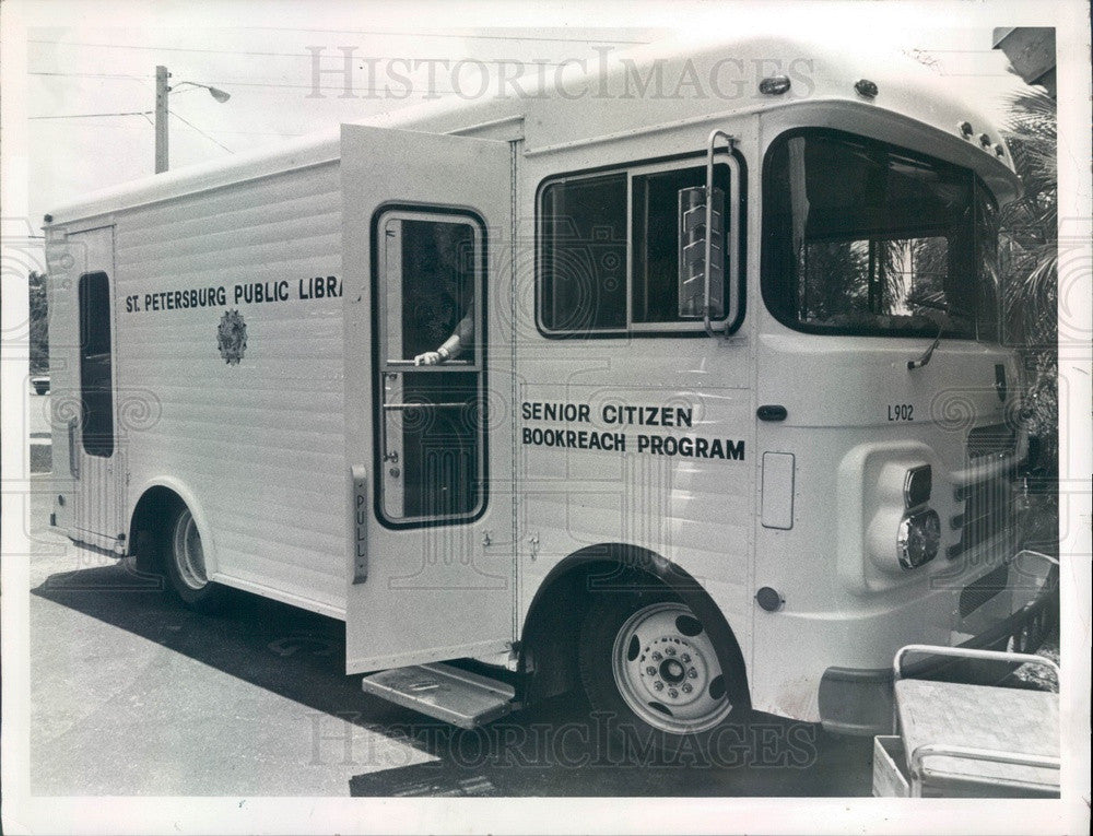 1979 St Petersburg, Florida Mobile Library, Senior Citizen Bookreach Press Photo - Historic Images