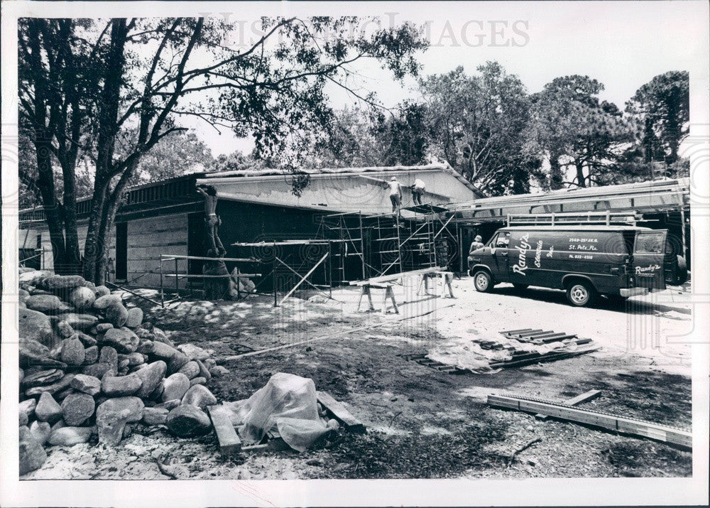 1980 St Petersburg, FL Boyd Hill Nature Trail Library Construction Press Photo - Historic Images