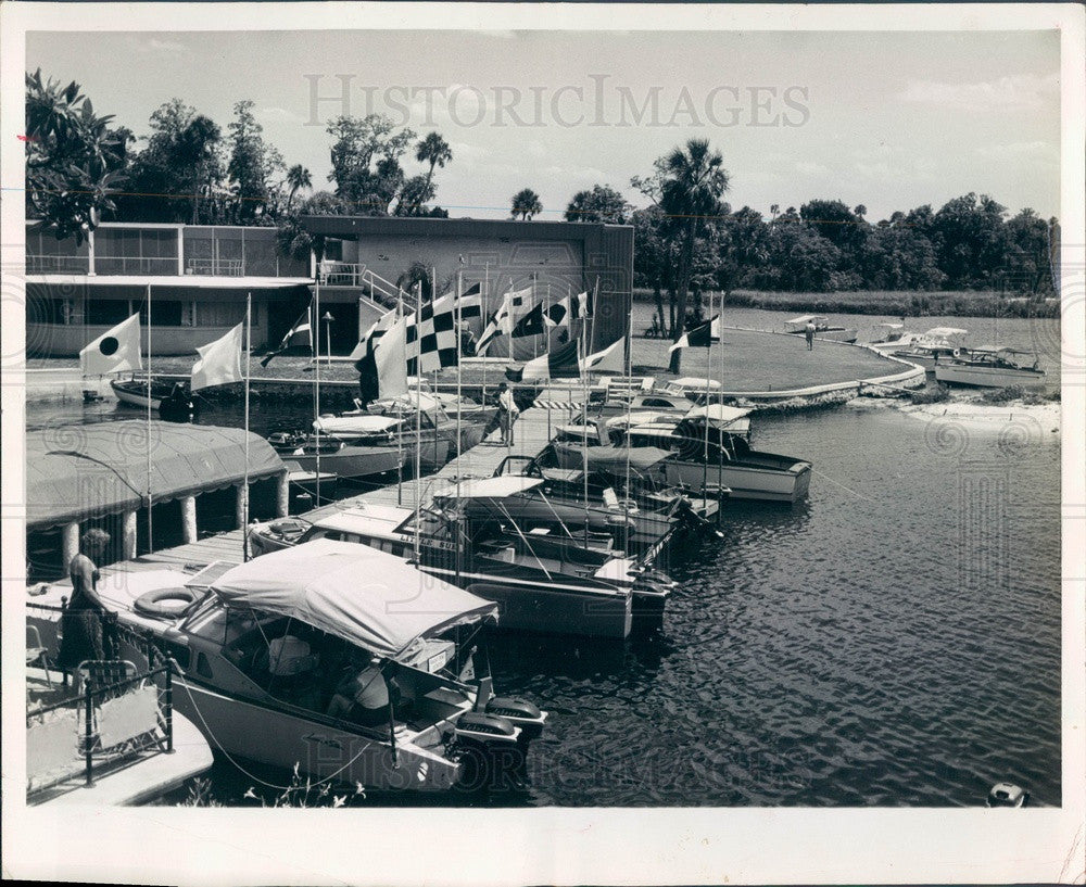 1956 Crystal River, Florida Port Paradise Press Photo - Historic Images