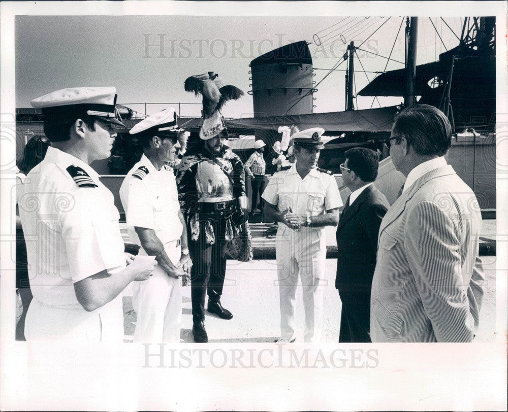 1974 Bradenton FL Port Manatee French Naval Patrol Boat Croix du Sud Press Photo - Historic Images