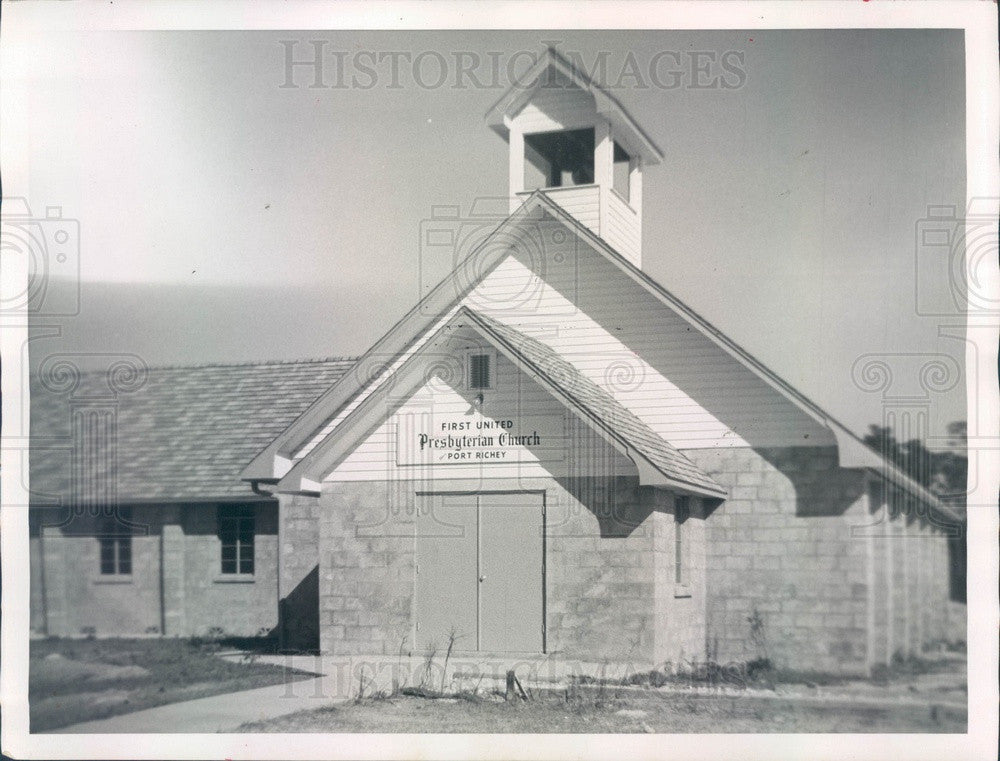 1960 Port Richey, Florida First United Presbyterian Church Press Photo - Historic Images