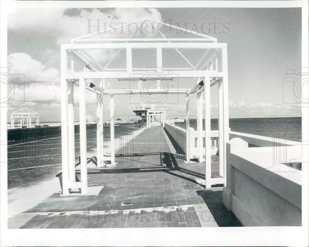 1987 St Petersburg, Florida Municipal Pier Construction Press Photo - Historic Images