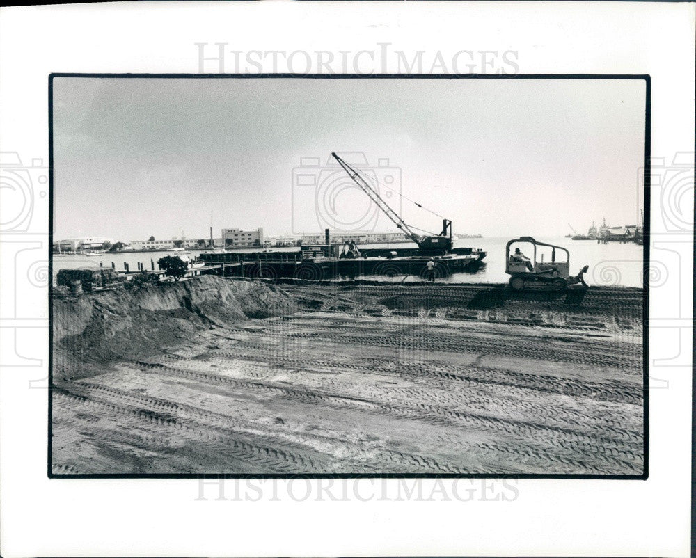 1987 St Petersburg, Florida Harborage Marina Construction Press Photo - Historic Images