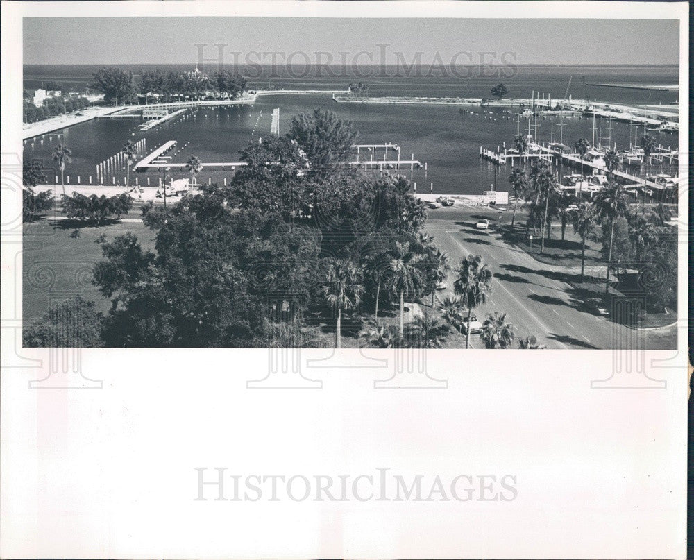 1962 St. Petersburg FL Central Yacht Basin Construction Aerial View Press Photo - Historic Images
