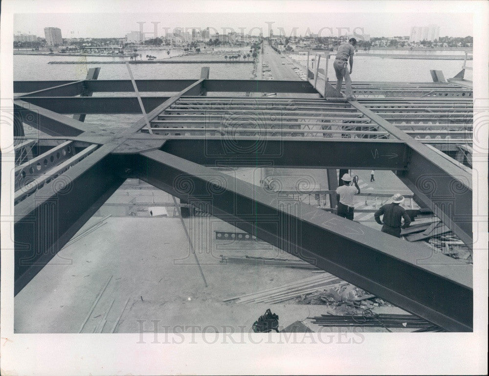 1970 St Petersburg, Florida Municipal Pier Construction Press Photo - Historic Images