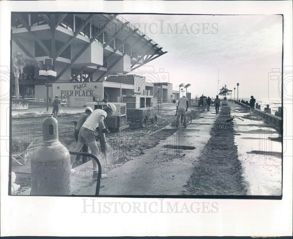 1978 St Petersburg, Florida Municipal Pier Construction Press Photo - Historic Images