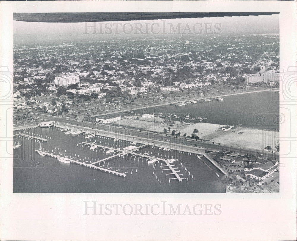 1964 St Petersburg, Florida Municipal Pier Aerial View Press Photo - Historic Images