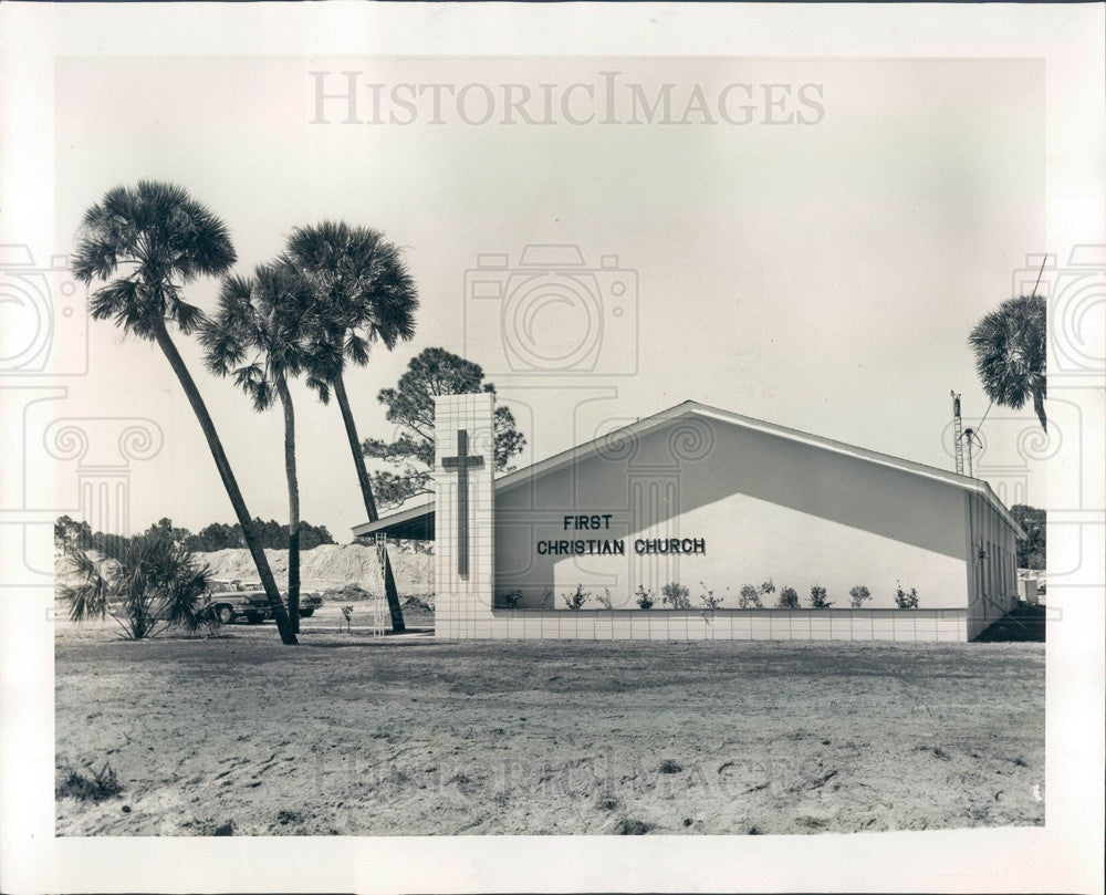 1960 Port Charlotte, Florida First Christian Church Press Photo - Historic Images