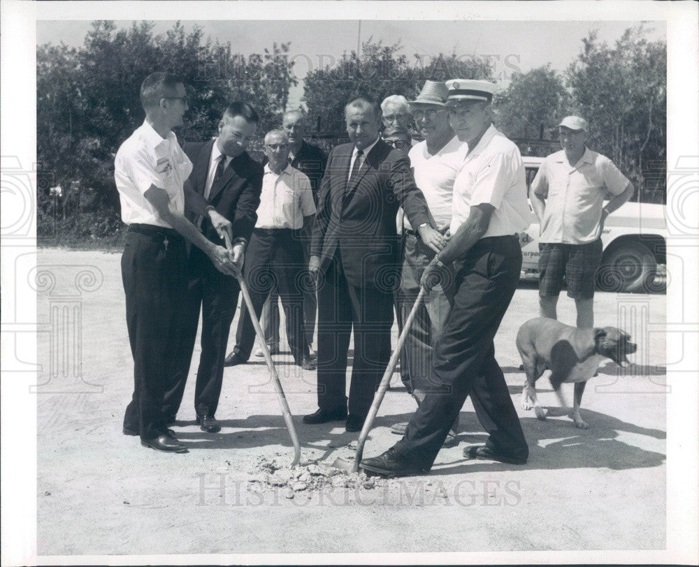 1966 Port Charlotte, FL Firehouse Groundbreaking, Fire Chief Press Photo - Historic Images