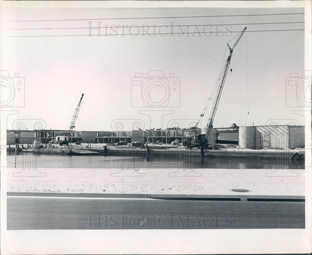 1962 St Petersburg, FL Tierra Verde Port O' Call Resort Construction Press Photo - Historic Images