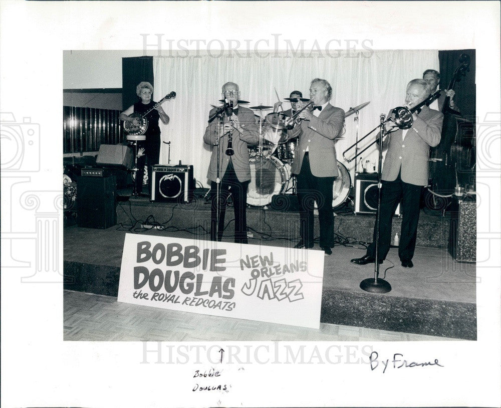 1984 Largo, Florida New Orleans Jazz Club, Bobbie Douglas Press Photo - Historic Images