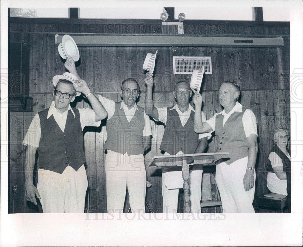 1980 Brooksville, Florida Clover Leaf Barbershop Quartet Press Photo - Historic Images