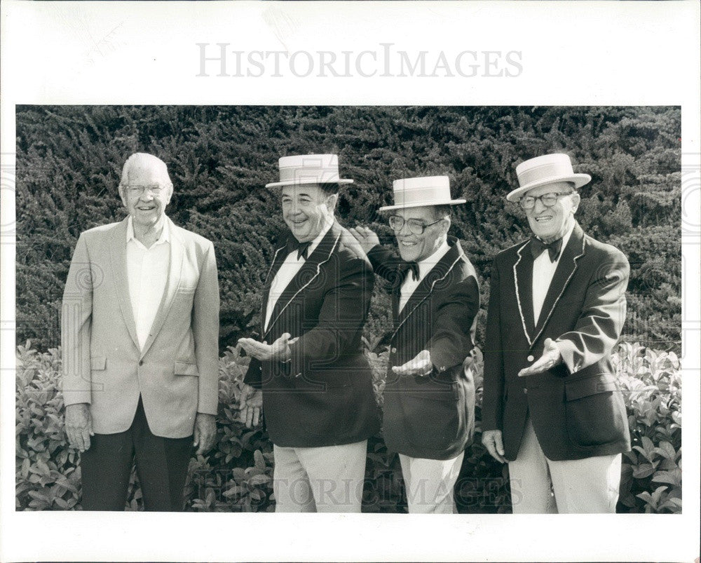 1985 Clearwater, Florida Springtime Chorus Barbershop Quartet Press Photo - Historic Images