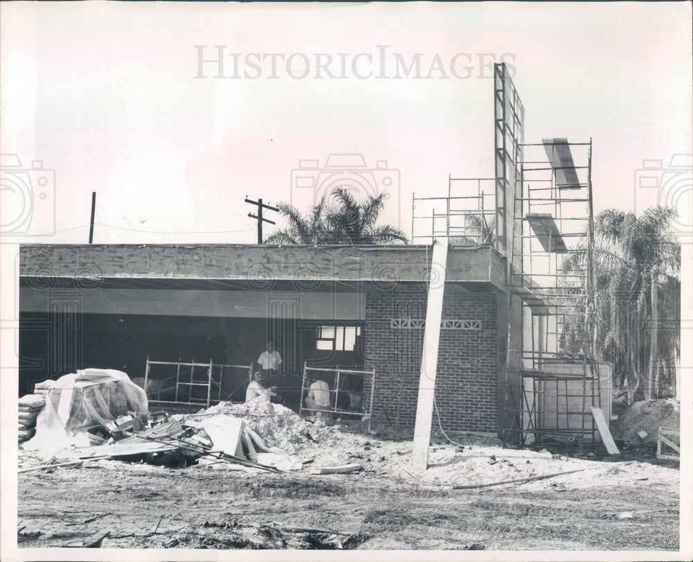 1964 Punta Gorda, Florida 7-11 Market Construction Press Photo - Historic Images