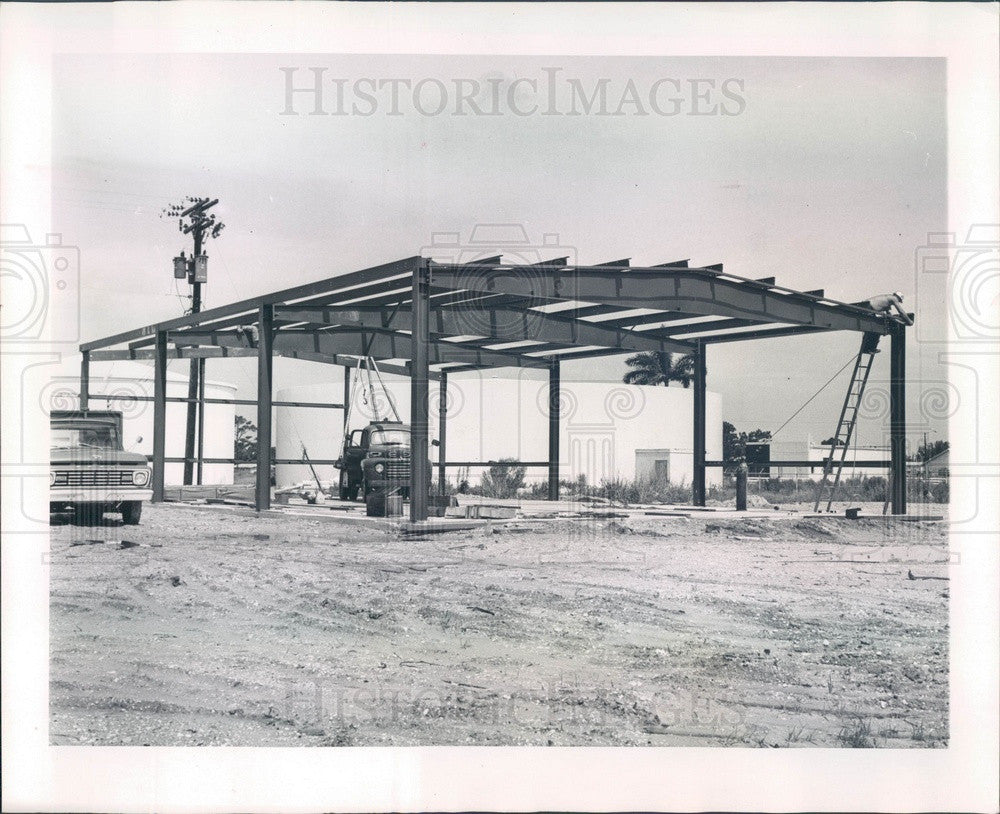1965 Punta Gorda, Florida Public Works Garage Construction Press Photo - Historic Images
