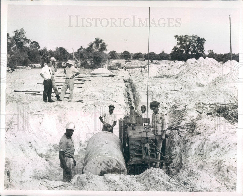 1964 Punta Gorda, Florida Water Treatment Plant Construction Press Photo - Historic Images