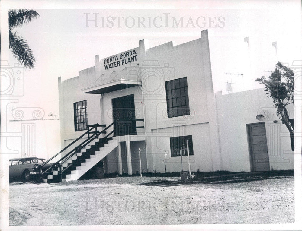 1964 Punta Gorda, Florida Old Water Plant Press Photo - Historic Images