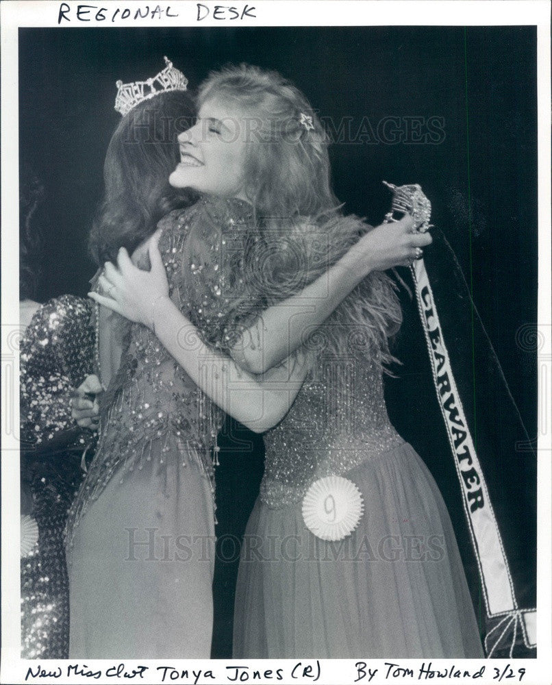 1987 Miss Clearwater, Florida Tonya Jones Press Photo - Historic Images