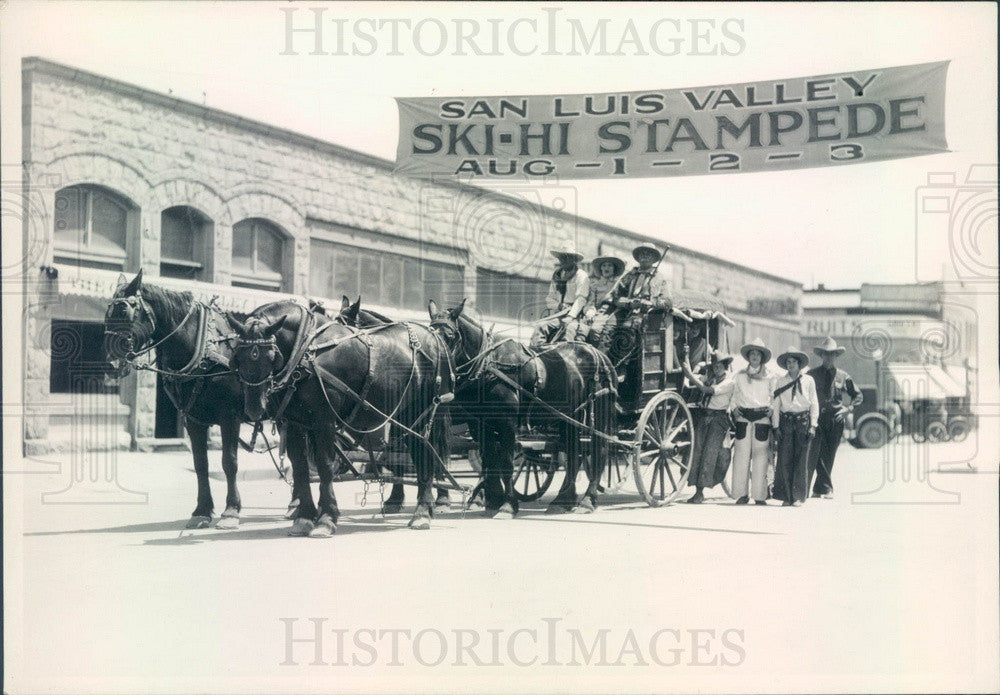 Undated Colorado Historic Stagecoach San Luis Valley Ski-Hi Stampede Press Photo - Historic Images