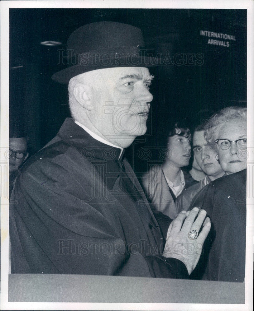 1969 Detroit, Michigan Archbishop John Cardinal Dearden Press Photo - Historic Images