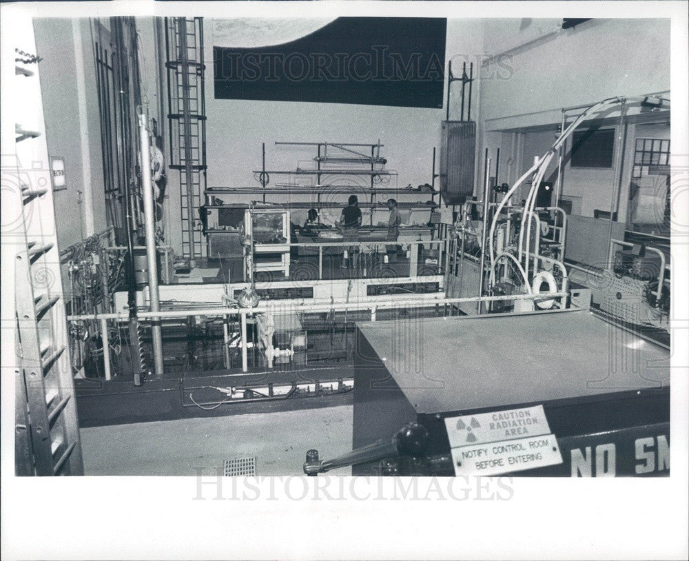 1979 Ann Arbor, MI University of Michigan Ford Nuclear Reactor Press Photo - Historic Images