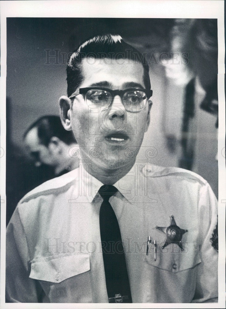 1969 Chicago, Illinois Oak Forest Police Chief Leonard Zielinski Press Photo - Historic Images