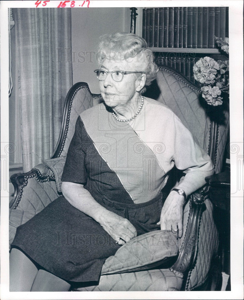 1964 Denver, Colorado Old Guard Society Member Mrs. George Garrey Press Photo - Historic Images