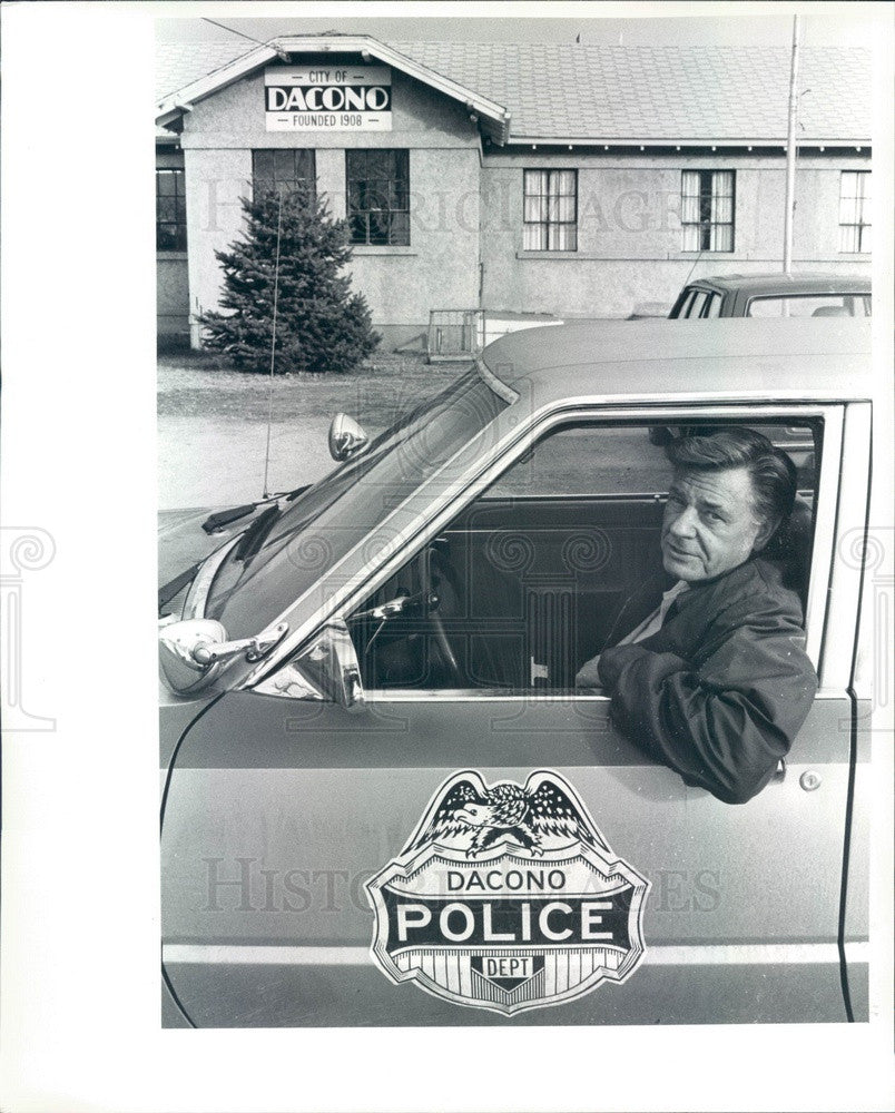 1983 Dacono, Colorado Police Chief Ted Kozanecki Press Photo - Historic Images