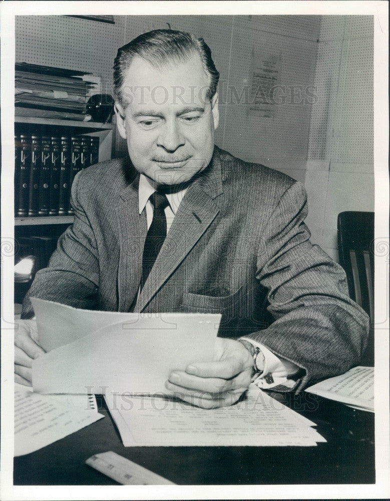 1964 ABC News Anchorman Ron Cochran Press Photo - Historic Images