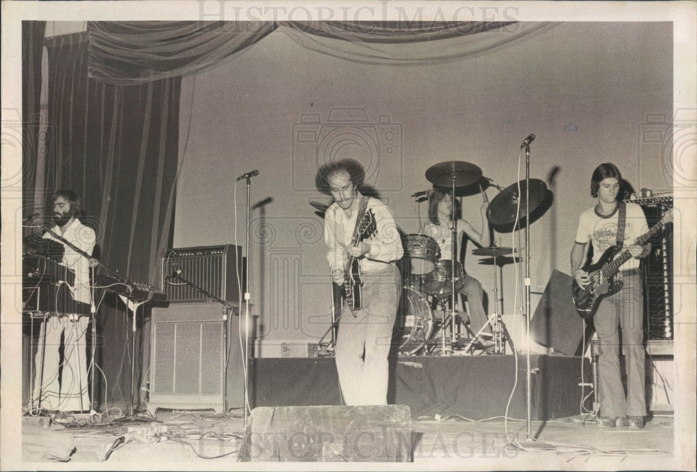 1976 St Petersburg, FL Teen Coffeehouse Papa's Dream House Band Press Photo - Historic Images