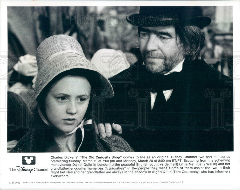 1995 Actor Sally Walsh/Tom Courtenay Disney's The Old Curiosity Shop Press Photo - Historic Images