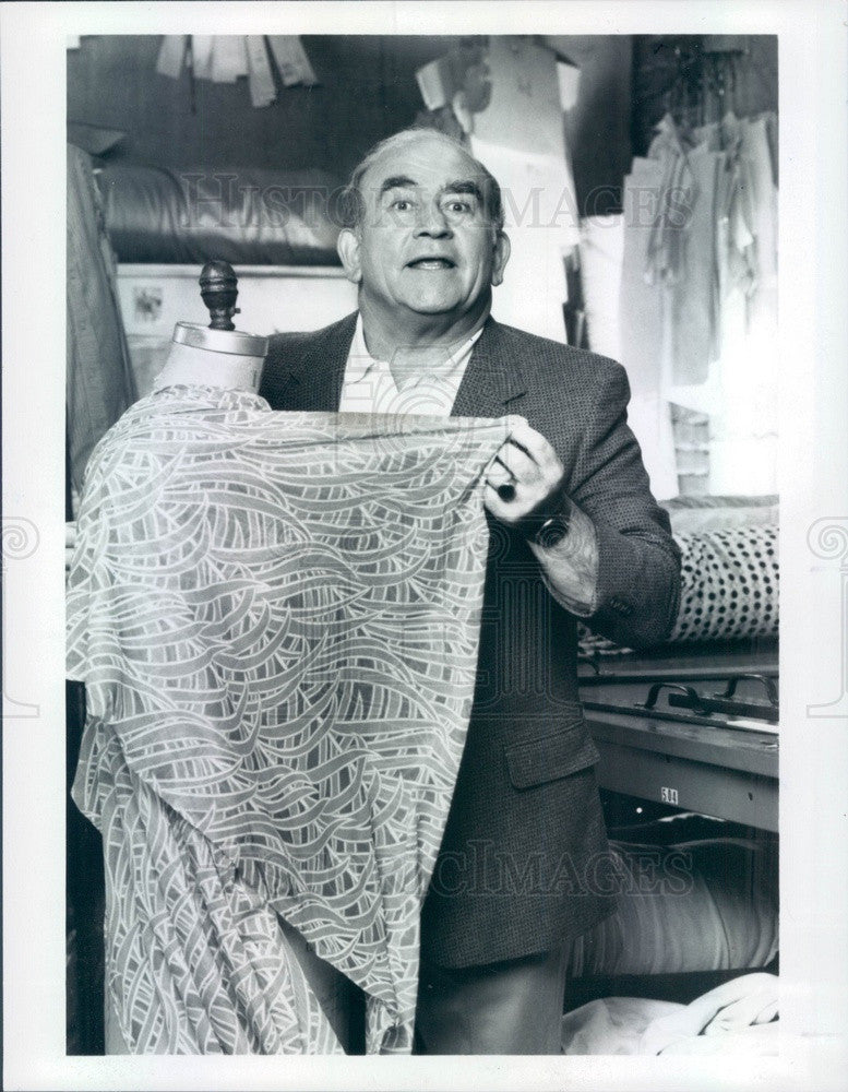 1985 Hollywood Actor Ed Asner TV Show Off the Rack Press Photo - Historic Images
