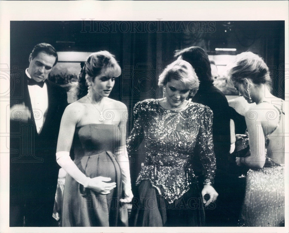 1991 Actors Karen Witter & Lynn Herring Soap Opera One Life to Live Press Photo - Historic Images