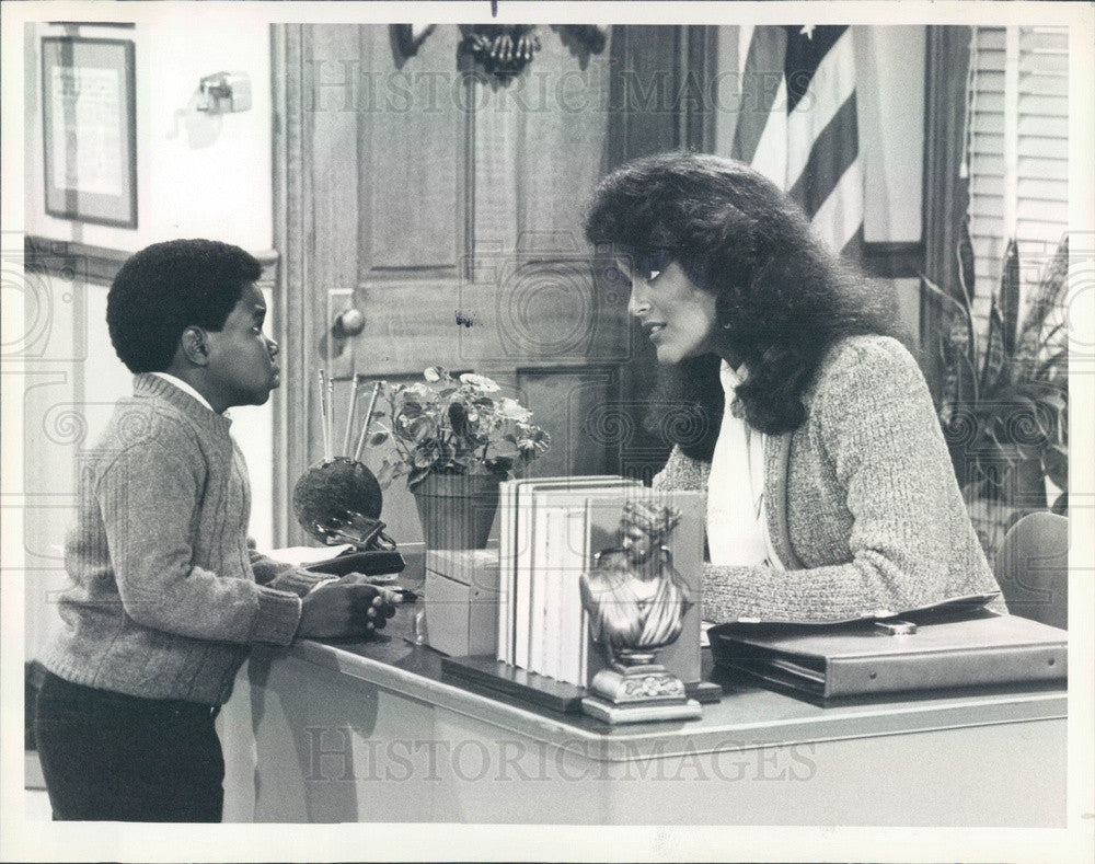 1984 Actors Jayne Kennedy & Gary Coleman TV Show Different Strokes Press Photo - Historic Images