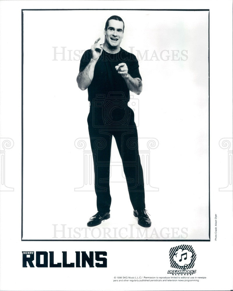 1998 American Writer/Actor/Singer/Songwriter Henry Rollins Press Photo - Historic Images
