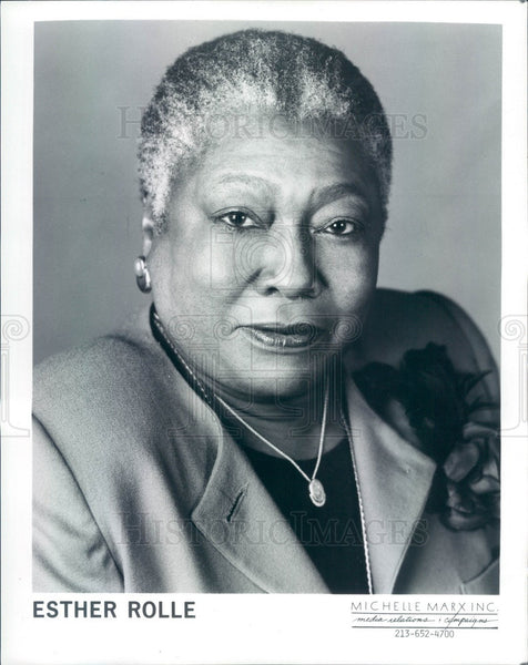 1990 American Hollywood Actress Esther Rolle Press Photo - Historic Images