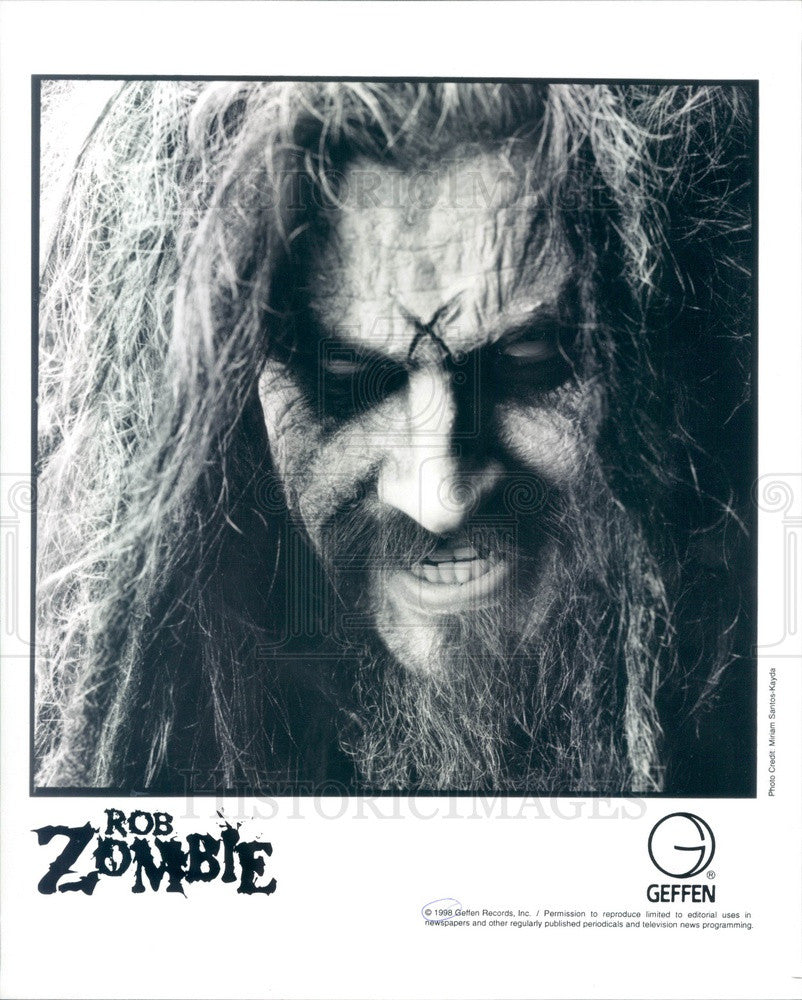 1998 American Musician/Director/Producer Rob Zombie Press Photo - Historic Images