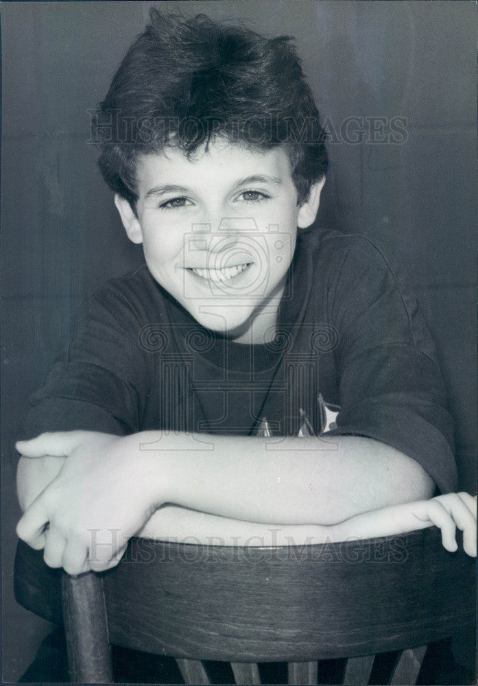 1989 American Actor/Director/Producer Fred Savage Press Photo - Historic Images