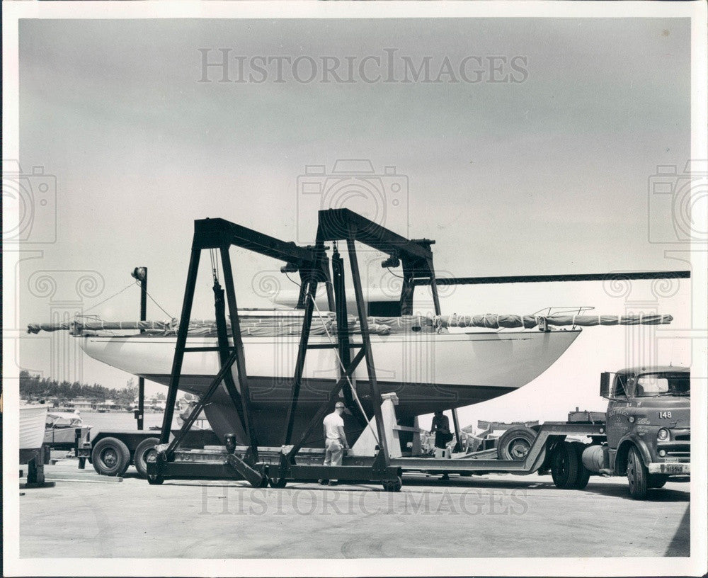 1961 Clearwater, Florida Ocean Racing Boat Osprey III, Kettenburg 40 Press Photo - Historic Images