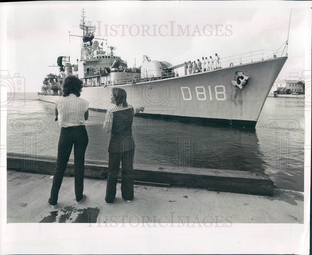 1981 Dutch Navy Ship Rotterdam in St. Petersburg Florida Press Photo - Historic Images