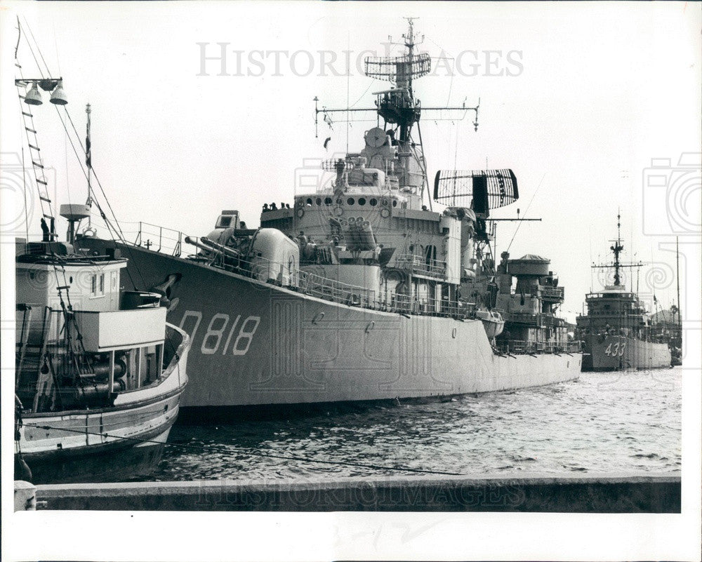 1981 Dutch Navy Ship Rotterdam in St Petersburg, Florida Press Photo - Historic Images