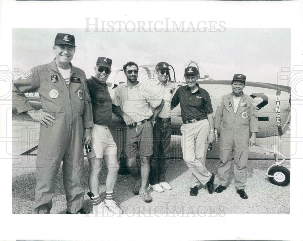 1991 St Petersburg, Florida Lima Lima Acrobatic Flying Crew Press Photo - Historic Images