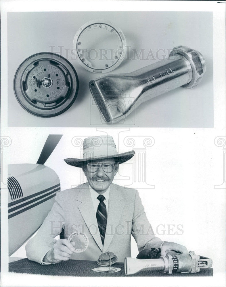 1984 General Aviation Manufacturers Assn Jet Fuel Nozzle & Adapter Press Photo - Historic Images